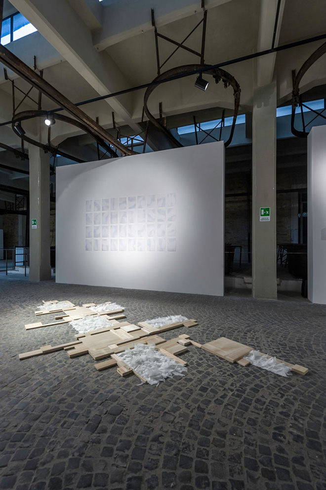 Chiara Dellerba - Delicata Mutevolezza, exhibition detail, Macro, Ex Mattatoio, Rome, 2013