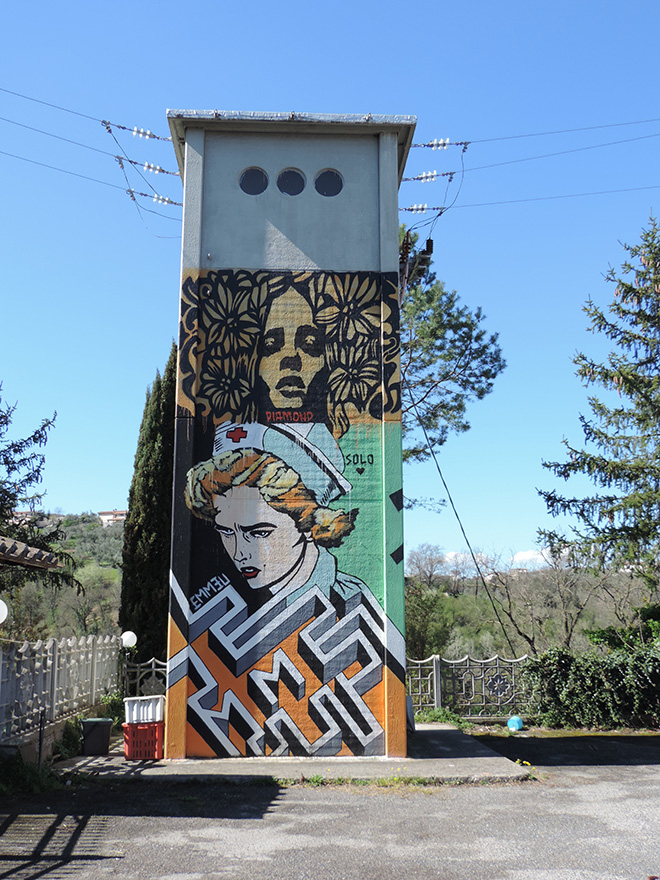 Emmeu + Solo + Diamond - Mural in Selci, (Rieti)
