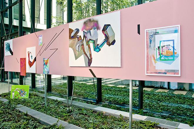 Ewa Doroszenko - Future sex based on Parade amoureuse by Francis Picabia, painting installation   Starak Family Foundation, Warsaw   2013