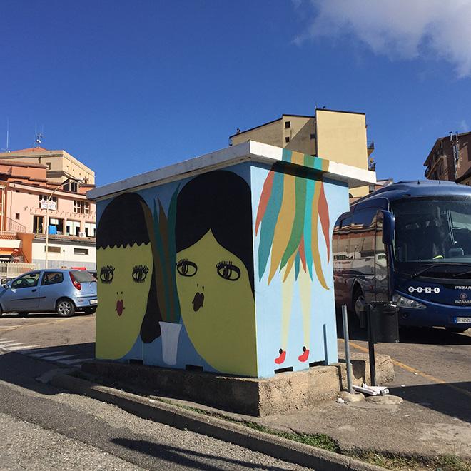 La Fille Bertha - Street art