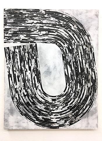 Martina Merlini - Untitled, 2017, mixed media on wood, 50x65cm