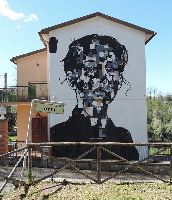 Mirko Marcacci - Mural in Selci, (Rieti)