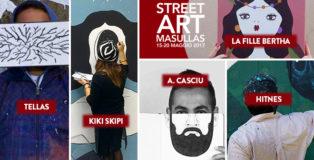 Street art Masullas - Tellas, La Fille Bertha, Andrea Casciu, Kiki Skipi e Hitnes