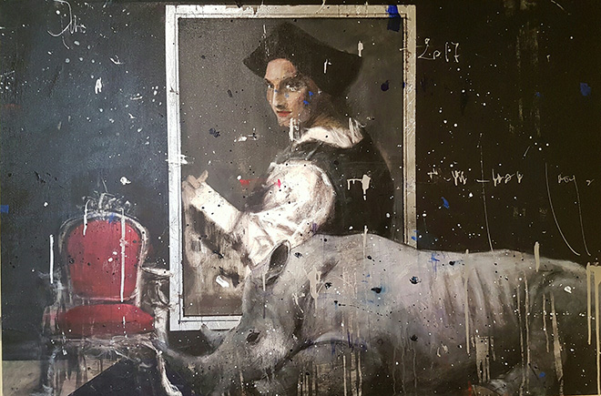Angelo Accardi - Misplaced tecnica mista su tela, 100x150