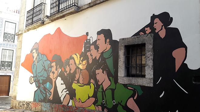 Carnation Revolution - Street art Lisbona