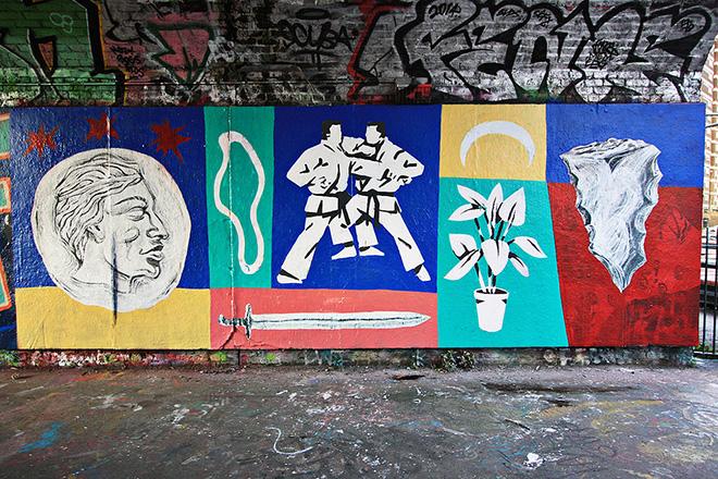 Dilen Tigreblu - Wall painting