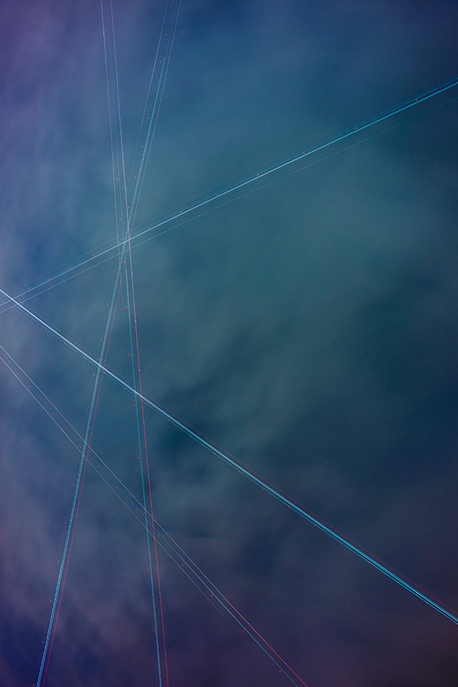 Steven Wayne - Night Sky Traffic (Series). Fine Art photographer of the year (professional), 3RD PLACE WINNER (Abstract)