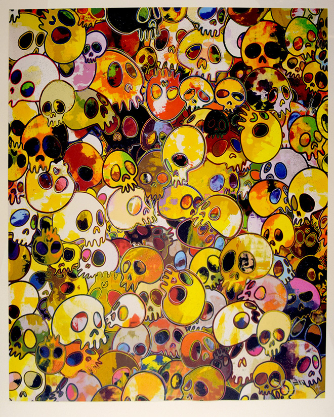 Takashi Murakami - MGST, 2012, serigrafia, tecnica mista, cm 65x57