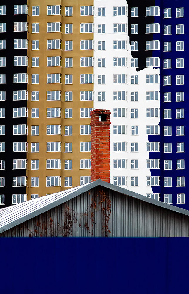 Yana Lileeva - The Color of the Residential Districts or Colorful Geometry. Fine Art photographer of the year (professional), 2ND PLACE WINNER (Abstract).