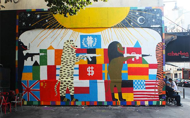 AMOR - Wall mural