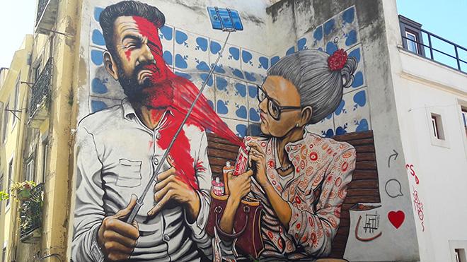 Andrea Tarli - Street art Lisbona