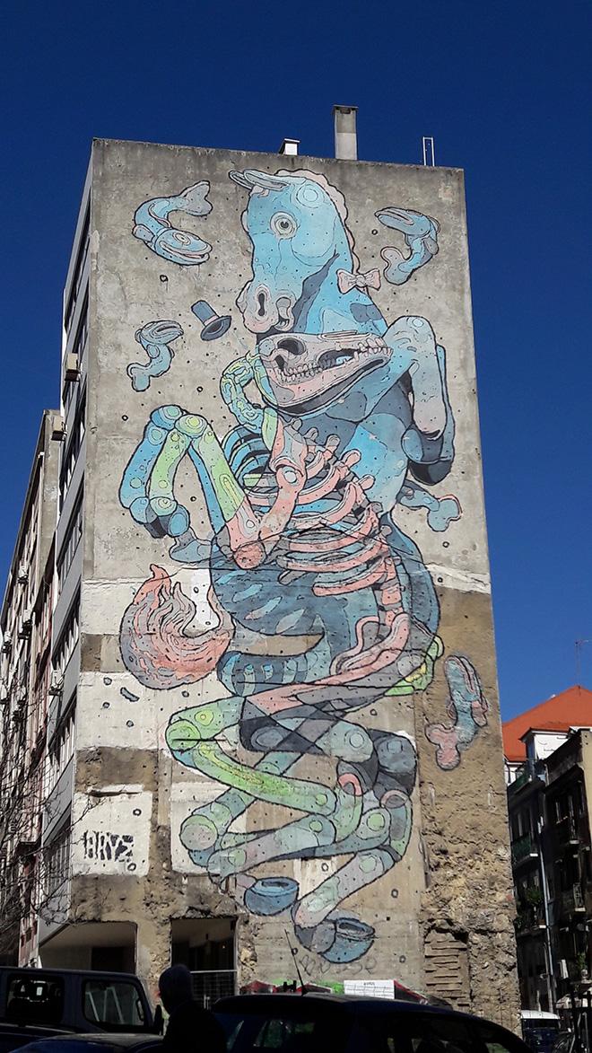 Aryz - Street art Lisbona