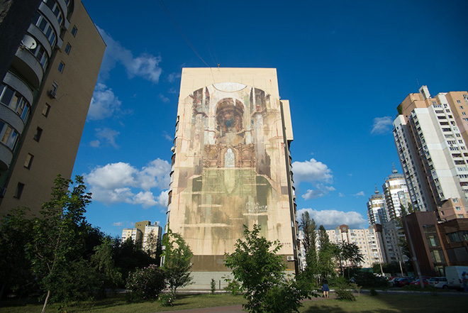 Borondo - PORTALS, Mural Social Club Kiev, 2016 photo credit: Maksim Belousov