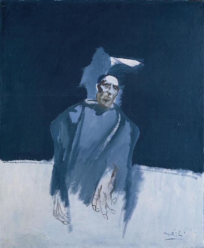 Carlo Mattioli - Ritratto di Ottone Rosai, 1969, olio su tela, 92x75 cm, collezione privata