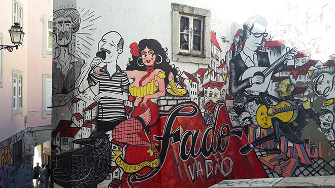Cheira - Fado vadio, Street art, Lisbona