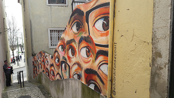Eduardo Fonseca - Alfama, Street art Lisbona