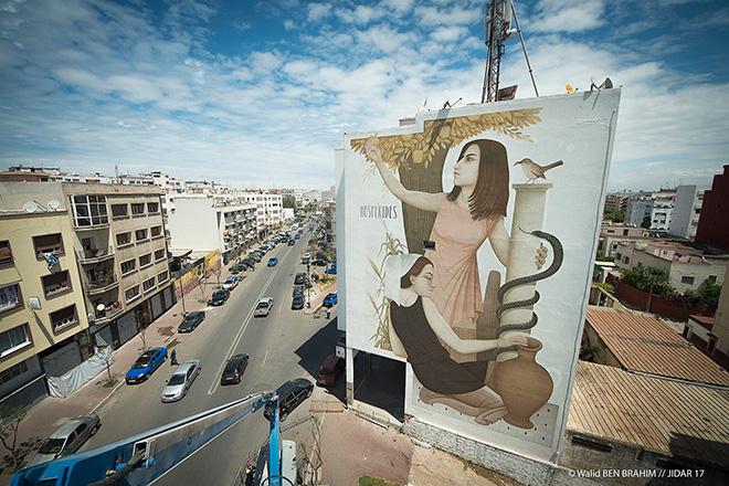 Fikos - Jidar festival, Street art Rabat, 2017. photo credit: ©Walid BEN BRAHIM