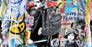 Mr. Brainwash - Just Kidding (detail), 2017, tecnica mista su carta, cm 120,7x95,2
