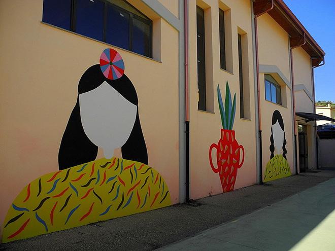 La Fille Bertha - Street art Masullas