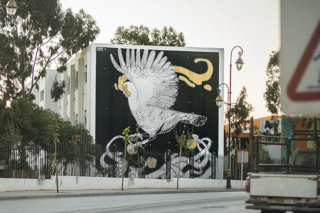 Mehdi Zemouri - Jidar festival, Street art Rabat, 2017. photo credit: ©Walid BEN BRAHIM