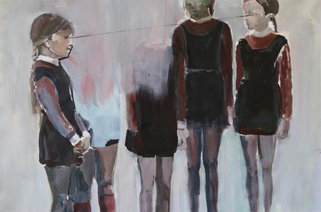 Milena Sgambato - On/Off, serie, 2016, acrilico su tela, 75x110 cm