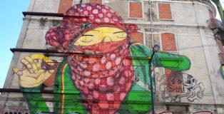 Os gemeos - Picoas, Street art Lisbona