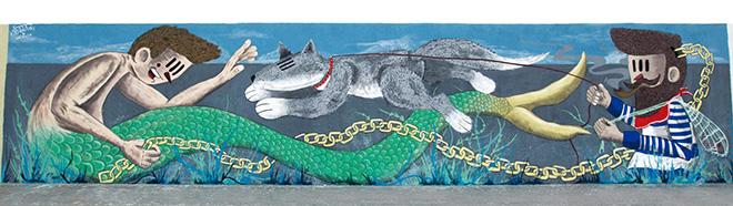 Pupo Bibbito + Federica Florio - Vedo a colori, Street Art nel porto di Civitanova Marche