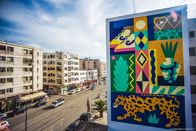 Saddo - Jidar festival, Street art Rabat, 2017. photo credit: ©CHADI ILAS