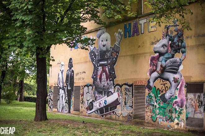 Stikki Peaches - Cheap, street poster art festival. photo credit: Michele Lapini