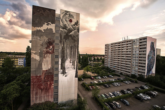 Borondo - Wilkommen, Berlin, 2016. photo credit: Nika Kramer