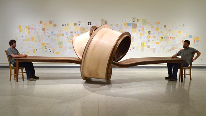 Michael Beitz - Not Now, 2014, wood
