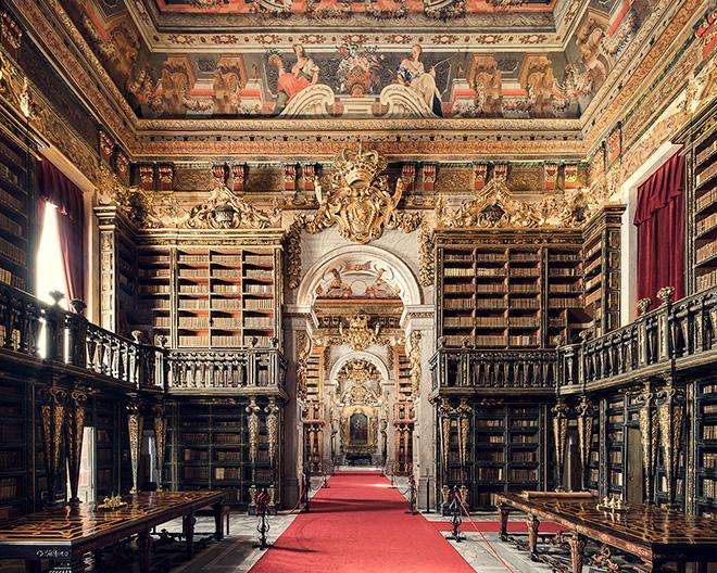 Thibaud Poirier - Libraries, Biblioteca Joanina, Coimbra, 1728