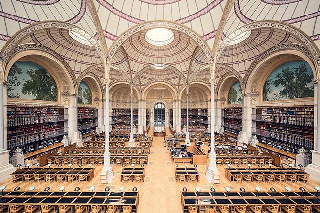 Thibaud Poirier - Libraries, Bibliothèque Nationale de France, Salle Labrouste, Paris, 1868