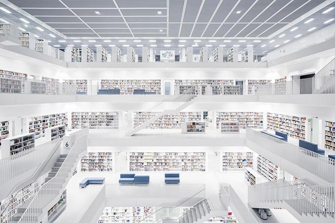 Thibaud Poirier - Libraries, Stadtbibliothek, Stuttgart, 2011
