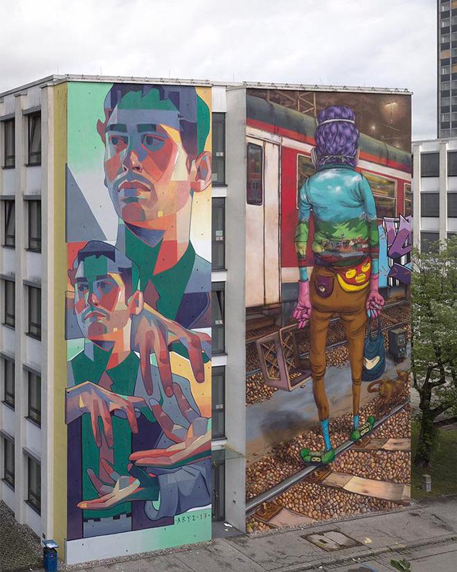 Aryz + Os Gemeos - SCALE, Urban WallArt Munich