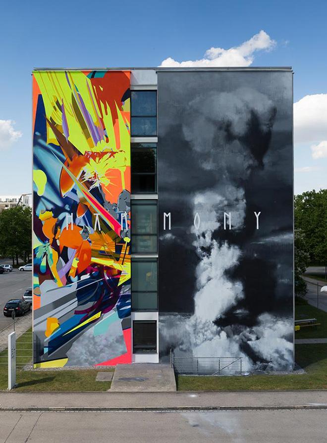 SatOne + Axel Void, Harmony - SCALE, Urban WallArt Munich