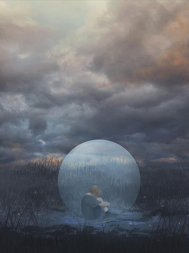 Michael Vincent Manalo - Innocence of Memories, Digital Matte Painting, 80x50cm, 2017