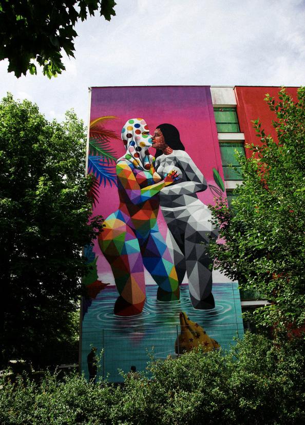 Okuda San Miguel - SCALE, Urban WallArt Munich
