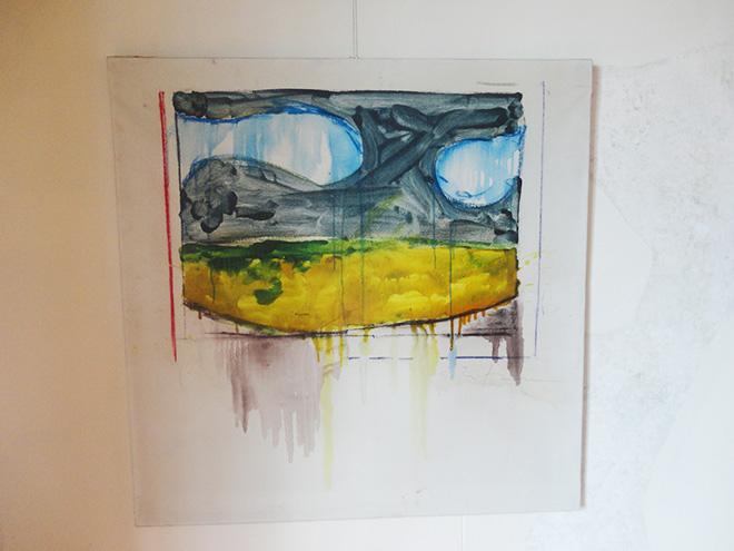 Mario Schifano - Paesaggio anemico, 1973