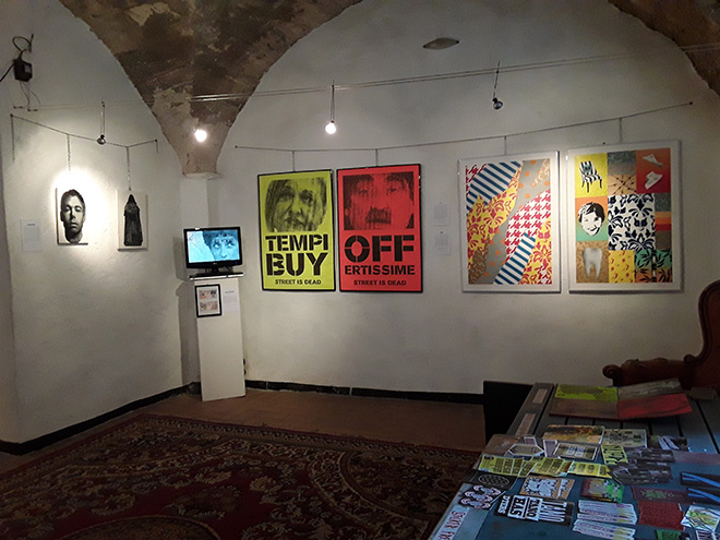 Segmenti Urbani - Exhibition view, Bussana Vecchia, 2017