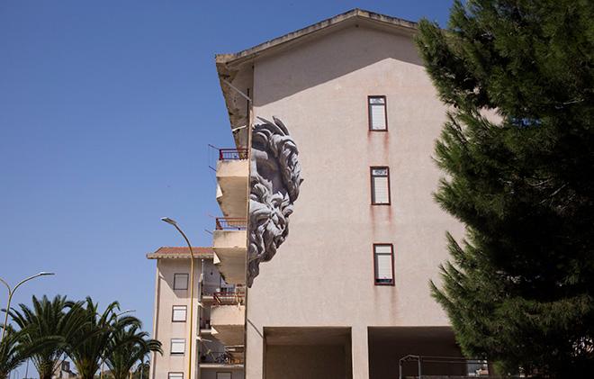 Collettivo Sbagliato - MACROSOMIA, cufù urban festival, Castrofilippo (Agrigento), 2017. photo credit: Angelo Jaroszuk Bogasz e Antonio Inzalaco