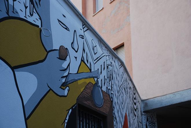 Millo - Murales a Il Cantiere di Monterotondo Scalo, Roma, 2017