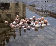 Isaac Cordal - Politicians Discussing Global Warming. ©Isaac Cordal