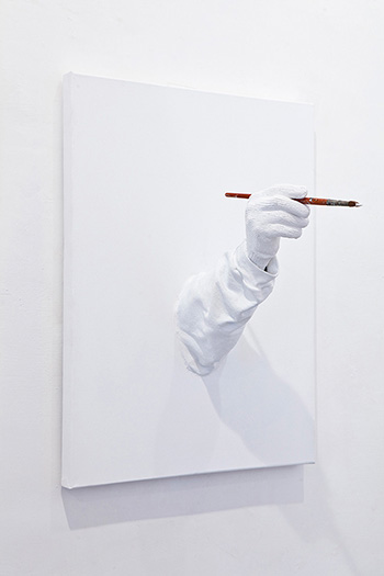 Mark Jenkins - The Painter, mixed medial, 2012