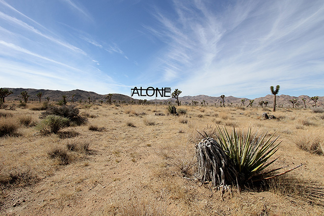 Rero - Untitled (ALONE), Joshua Tree, USA, 2013