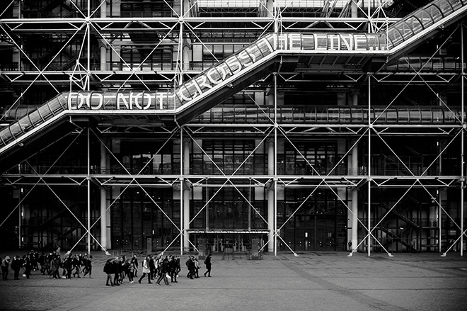 Rero - Untitled (DO NOT CROSS THE LINE), Ex situ Cent-re Pompidou, Paris, France, 2013, Centre-Po