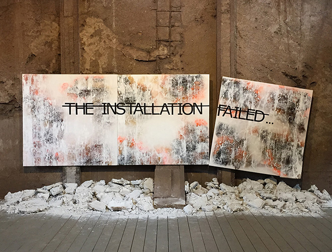 Rero - Untitled (THE INSTALLATION FAILED), Urban Art, Biennale Volklingen, Germany, 2014