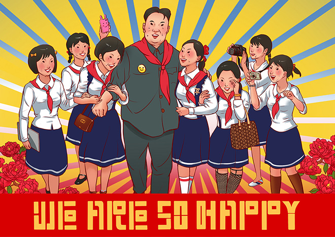 Tony Cheung - We are so happy, giclée printing on paper, 80x56 cm