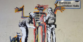Banksy - Basquiat, Barbican Centre, London. photo credit: Patrick Nguyen for Arrested Motion