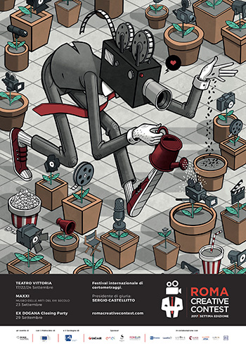 Locandina Roma Creative Contest 2017 - Artwork by Mr. THOMS